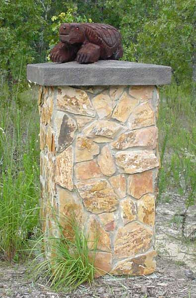 Natural Stone Pillars Caps : Welcome to the column shop custom pre fab columns by